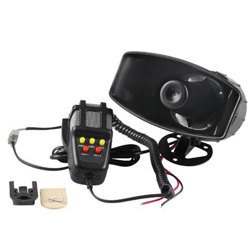 12 В 100 дБ Вт пластиковый рожок сирена динамик для авто автомобиля грузовика сигнализация Гудок с микрофоном громкий динамик сирена 5 звуков