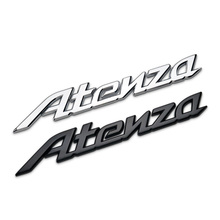 1 Pcs 3D Metal Car Sticker Alphanumeric Logo Badge Emblem Car Side Fender Rear Luggage Decoration Accessories For Atenza Axela