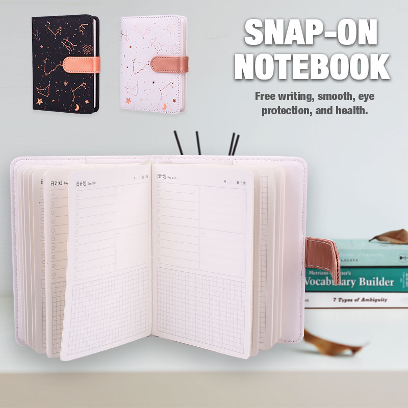 Handbook Notepad Notebook Constellation 2019 Calendar Diary Study Button Convenient Stationery School Student Work Simple