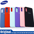 Оригинальный чехол для Samsung Galaxy A90, A30, A40, A50, A60, A70, A8S, жидкий силиконовый чехол, шелковистая мягкая на ощупь задняя защитная крышка