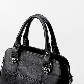 Vintage Ladies Hand Bags Casual Tote Bag 2020 Luxury Retro Handbags Women Bags Designer Female Soft Leather Shoulder Bag фото