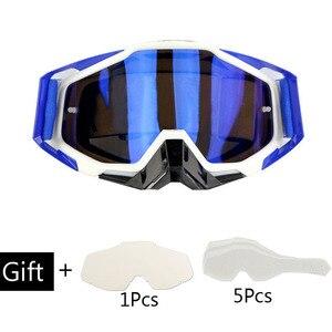 Image 3 - Motosiklet gözlüğü Off Road ATV motokros gözlük kir bisiklet Gafas yokuş aşağı Lunette Moto çapraz ülke motosiklet gözlük setleri