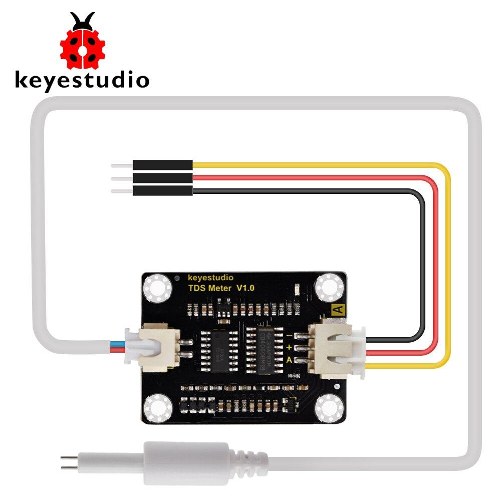Keyestudio TDS Meter V1.0 Bord modul Wasser Meter Filter Mess Wasser Qualität für arduino unor3