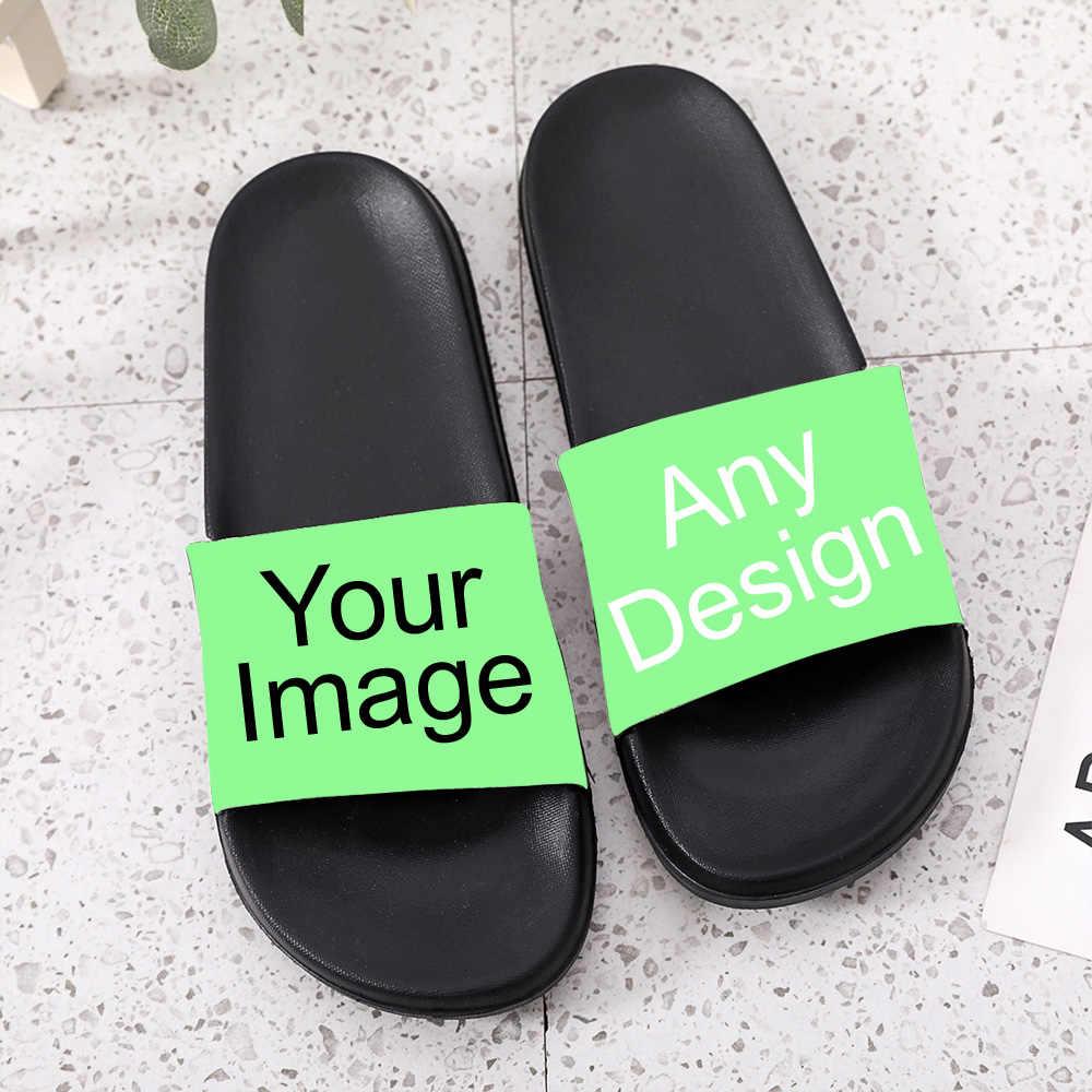 Deslize para homens, mulheres e crianças personalizar sapatos personalizados foto tênis personalizados design de imagem de logotipo diy