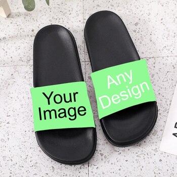 Slides For Men Women Kids Customize Slippers Personalized Shoes Photo Custom Sneakers Customization Diy Logo Image Design