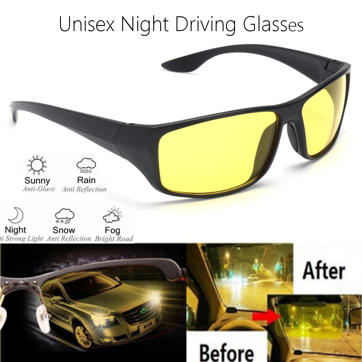 ใหม่แว่นตากันแดด Night Vision แว่นตากันแดดผู้ชายแฟชั่น Polarized Night Driving Enhanced แว่นตา