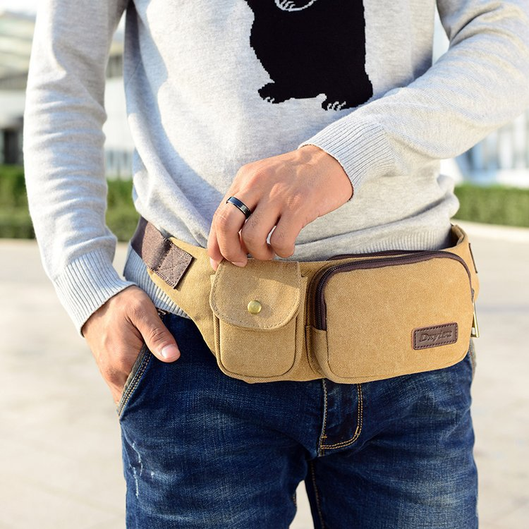 Canvas Bag New Style Outdoor Portable Small Pockets Fashion Casual Running For Multi-functional Chest Pack
