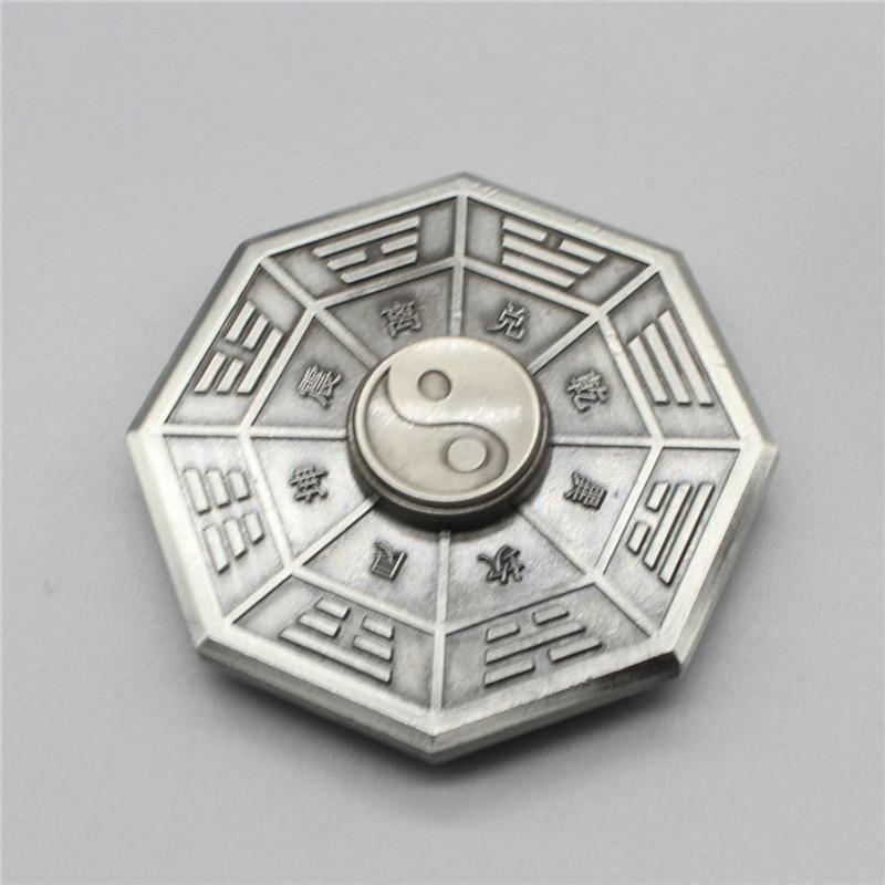Fidget Spinner Finger-Gyro Anti-Stress Metal Toy Eight Adult Gift Taiji Diagrams img3