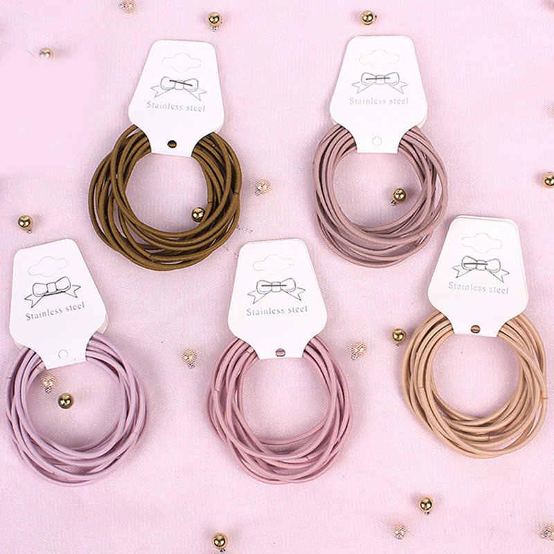 10 adet/grup 5CM saç aksesuarları kızlar lastik bantlar toka elastik saç bantları çocuklar bebek kafa bandı süslemeleri bağları sakız saç