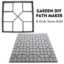 Сад DIY Пластиковый путь производитель тротуара модель бетон шаговый камень цемент плесень кирпич FP8 FE27