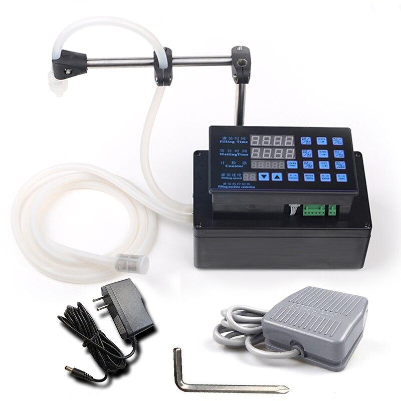 Electrical Liquids Filling Machine MINI Bottled Water Filler Digital Pump For Perfume Drink Water Milk Olive Oil 110V 220V