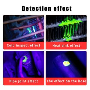 Image 2 - 40ml narzędzie do wykrywania wycieków fluorescencyjnych samochodów klimatyzator klimatyzacja gaz chłodzący A/C wykrywacz nieszczelności środek fluorescencyjny