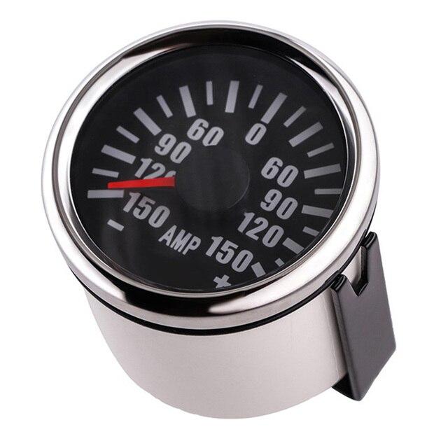 52mm Ammeter AMP Gauge ±150A Auto Car Ampere Meter With  Sender Red Backlight For Ship Car Marine Motorcycle 12V/24V|Volt Meters|   -