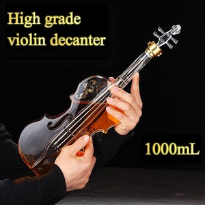Image 1 - Blown Glass Wine Decanter for Whiskey High grade Creative Vodka Bottle Violin Decorative Wine Set 1000ML