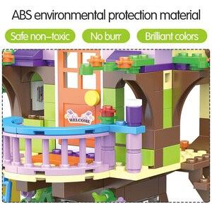 Image 3 - Bloques de construcción de casa de árbol de aventura para niñas, 587 uds, bloques de construcción compatibles con lys, juguetes para niños, regalo