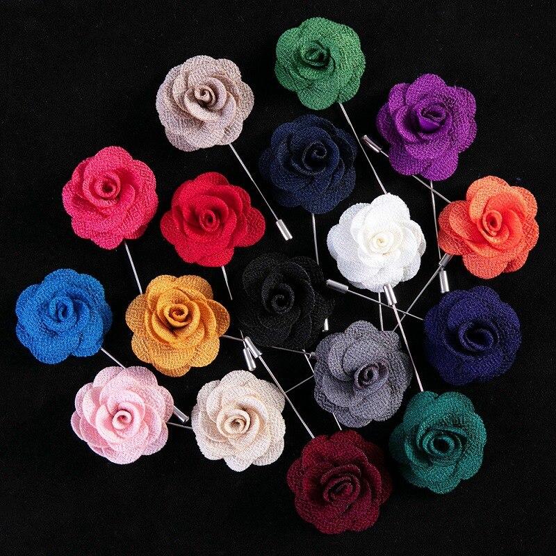 Свадебная бутоньерка штифты корсажа для женщин и мужчин брошь для жениха цветы из полиэстера пуговицы для брака розы гостей на выпускной костюм аксессуары