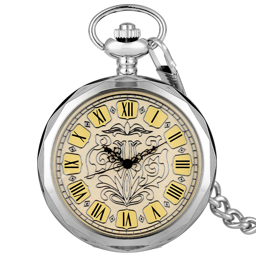 Hand-winding Mechanical Pocket Watch Utility Neckalce Rough Chain Practical Dial Pendant Watches Accessory Relogio Montres
