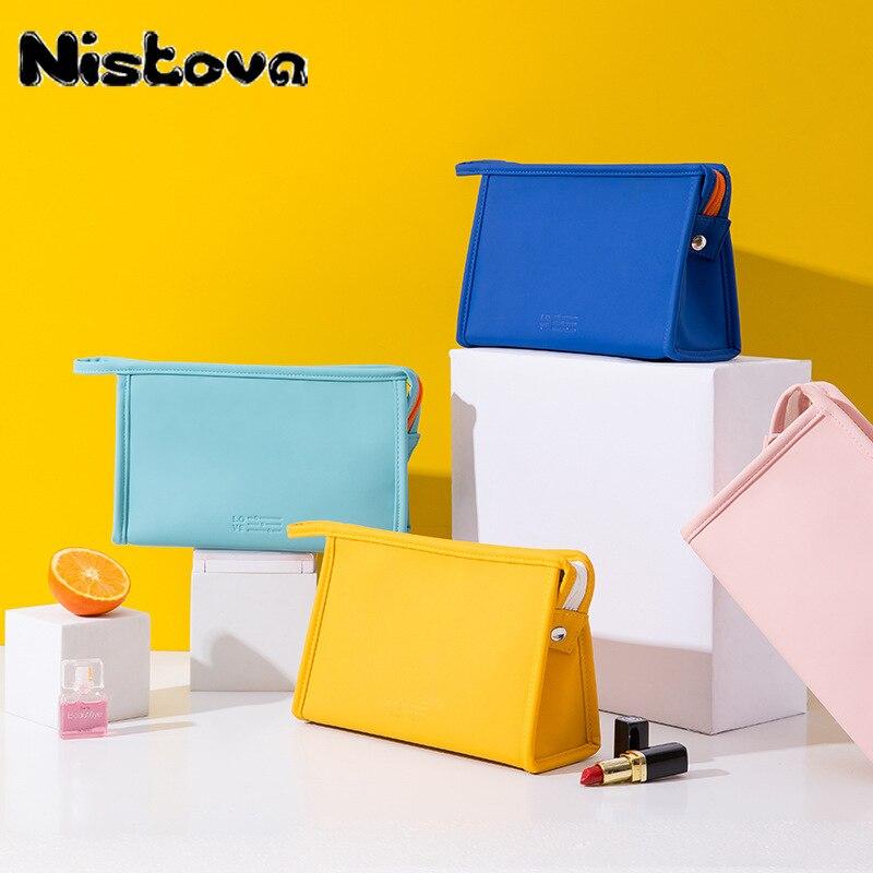 New PU Neceser Women Makeup Bags Toiletries Organizer Multifunction Travel Cosmetic Bag Large Capacity Waterproof Storage Box