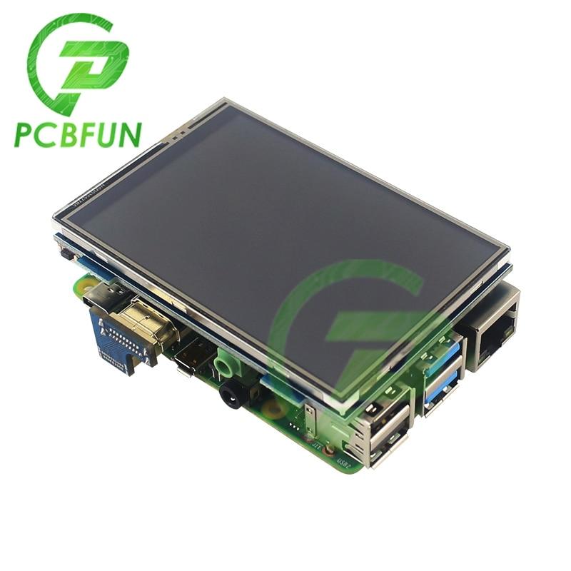 ЖК-дисплей 3,5 дюйма для HDMI USB сенсорный экран Real HD 1920x1080 ЖК-дисплей модуль для Raspberry 3 Модель B/оранжевый разрешение 480x320