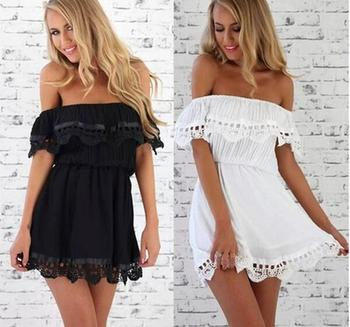 Fashion Women Lace Casual Sleeveless Sexy Mini Evening Above Knee Dresses Women's Summer New Party S