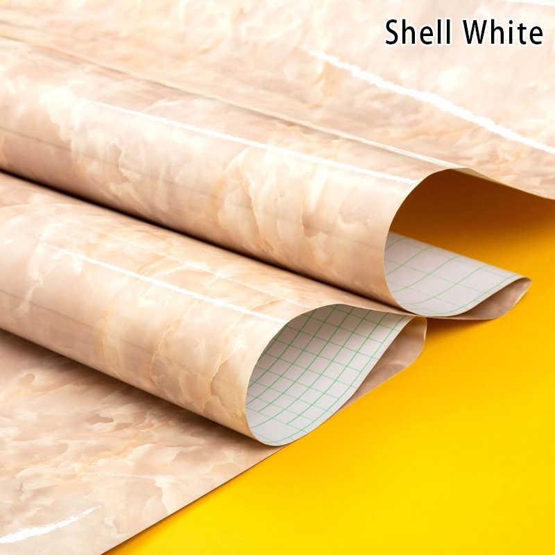 Papel de pared impermeable autoadhesivo con textura de mármol para encimeras de cocina pegatinas contra salpicaduras I88