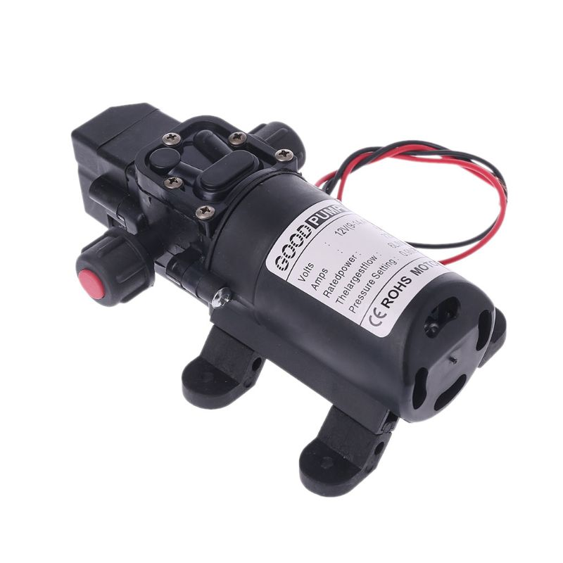 DC 12V 130PSI 6L/Min Water High Pressure Diaphragm Self Priming Pump 70W