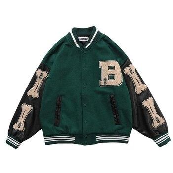 Womens Coats and Jackets High Street Hip Hop Baseball Uniforms Street Casual Coat Loose Stitching Jacket Tops 2021 Summer New