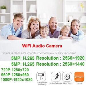 Image 2 - Jienuo câmera residencial, vigilância externa sem fio 5mp ip áudio cctv à prova d água 1080p alta definição onvif wi fi câmera doméstica