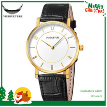 New Class 2019 Big Brand Couple Fashion Watch Genuine Leather Watchband Quartz Ultra-thin Simple Wat