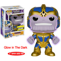 FUNKO POP Marvel The Avengers Thanos 78 # Glow In The Dark Exclusive 6 inch Action Figures Doll Toys Christmas Birthday Gifts