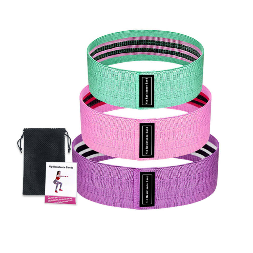 Resistance Bands 3-Piece Set Fitness Rubber Bands Expander Elastic Band For Fitness Elastic