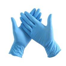 Одноразовые утолщенные нитриловые резиновые перчатки износостойкие противоскользящие перчатки для защиты от кислотных и щелочных вод