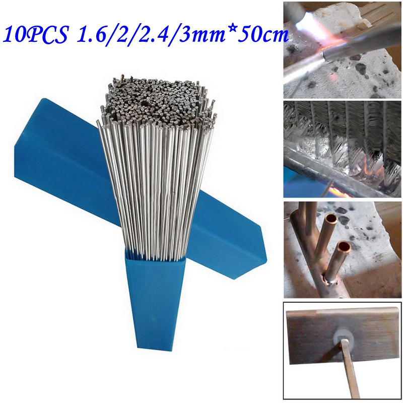 10PCS 1.6/2/2.4/3mm*50cm Low Temperature Aluminum Solder Rod Welding Wire Flux Cored Soldering Rod No Need Solder Powder