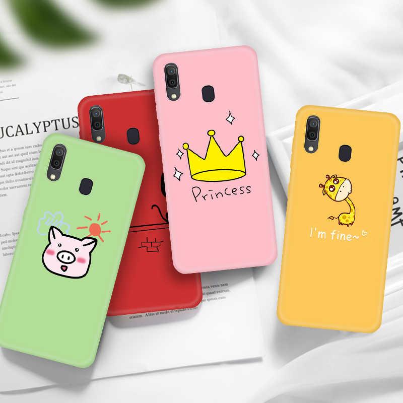 חמוד חתול דפוס טלפון מקרה לסמסונג גלקסי A70 A60 A50 A40 A30 A20 A10 M40 M30 M20 M10 A7 2018 סיליקון TPU כיסוי מקרה
