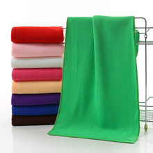 Ultra-fine fiber fast-drying towel Pure color absorbent beach Kitchen clean