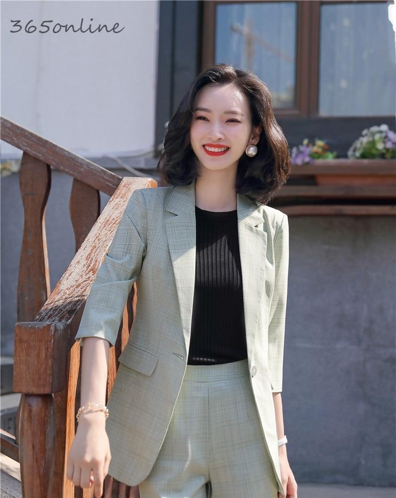 Fashion Styles Spring Summer Half Sleeve Blazers Jackets Coat For Women Business Work Wear Ladies Professional Blaser Outwear