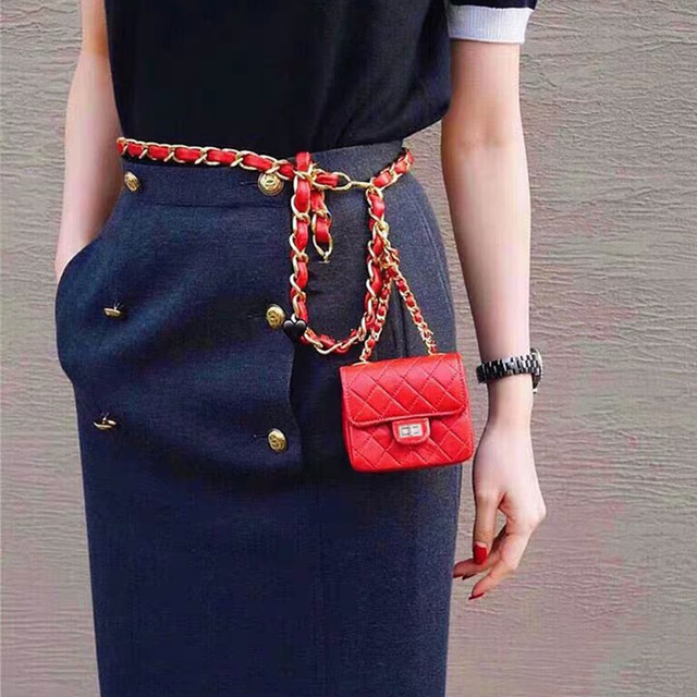Mini PU Leahter Waist Bag