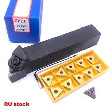 1 pieza WTJNR2525M16 soporte de herramienta de torneado de 93 grados WTJNR 150mm 11 piezas Inserts juego de herramientas de cort