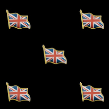 5PCS Union Jack Wave 3D UK National Flag Brooch Gold Pin Badge UK Brooch