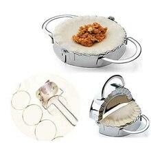Форма для изготовления пельменей из нержавеющей стали, кухонный инструмент для выпечки с кольцом для муки DNJ998