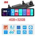 Android 8,1 4G + 32G 12 дюймов 4G Автомобильное зеркало заднего вида потоковая мультимедийная система GPS навигация видеорегистратор двойная камера ...