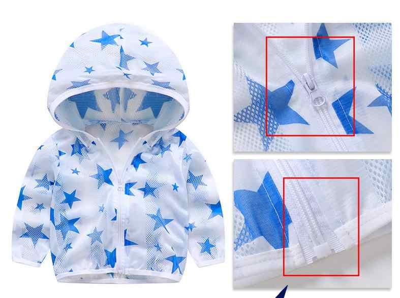 2020 ฤดูร้อนเด็กใหม่เสื้อผ้าการ์ตูนป้องกันดวงอาทิตย์เสื้อผ้าสำหรับ Unisex เด็ก Breathable เสื้อแจ็คเก็ตเสื้อบาง
