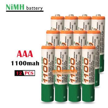 12 sztuk partia oryginalny AAA 1 2V Ni-MH akumulator 1100mah + darmowa wysyłka! tanie i dobre opinie EASTFIRE 1100 mAh AAA 1100mAh Baterie Tylko