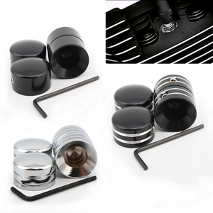 1Set Motorcycle Head Bolt Topper Cover Cap for Sportster XL 883 1200 1986-2018 SOFTAIL FATBOY Screw Engine Cover Trim Head(China)