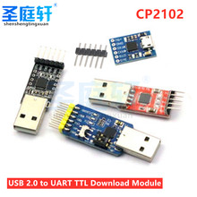 CP2102 5Pin USB to TTL 485 232 Module 6Pin Serial UART Converter FT232 Replacement STC Adapter Module 3.3V/5V Power for Arduino