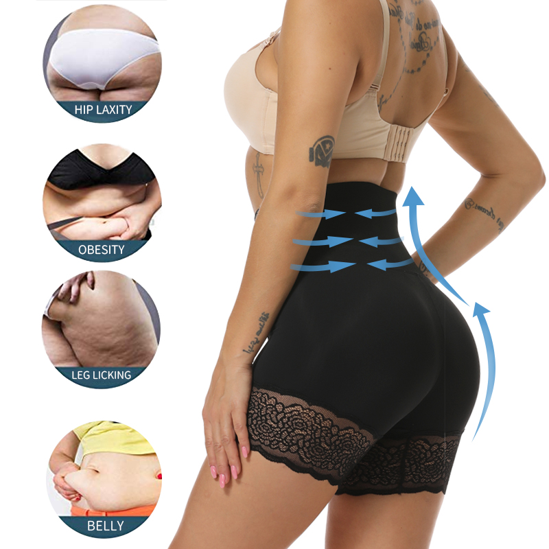 High Waist Shapewear Waist Trainer Body Shaper Butt Lifter Tummy Control Reducing Panties Shaping Modeling Girdles Slim Shorts