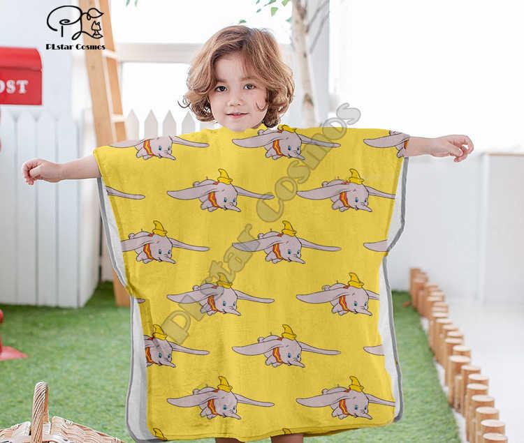 Cartoon nette Cartoon Dumbo Mit Kapuze baby Jungen und Mädchen Handtuch Wearable Bad Handtuch Für Kinder Reise 3D druck Strand Handtücher stil-7