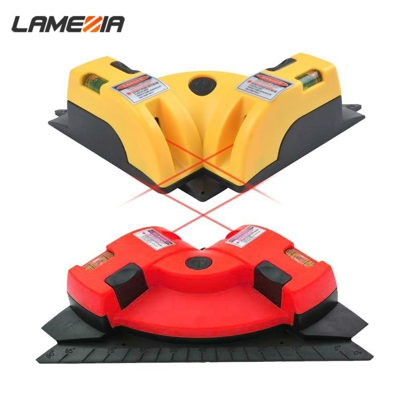 LAMEZIA 90 Grad Mini Niveau Linie Laser Level Messung Werkzeug Leveler Bau Elektronische Lazer Messung Instrument