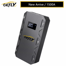 Cables-Device Car-Battery-Booster Power-Bank Jump-Starter Petrol GKFLY Portable High-Capacity