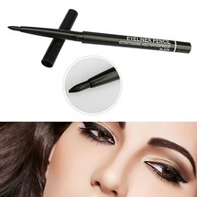 Lápiz Delineador de ojos líquido, resistente al agua, larga duración, herramientas de maquillaje para sombra de ojos YXL, color negro, 36h, 1 unidad